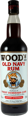 Medium wood 100 old navy rum rum