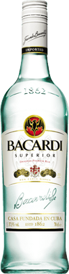 Medium bacardi superior rum