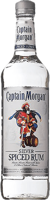 Medium captain morgan silver spiced rum