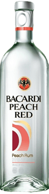 Medium bacardi peach red rum