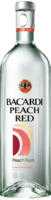 Small bacardi peach red rum
