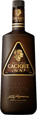 Medium cacique 500 extra anejo rum