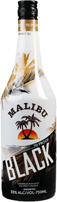 Medium malibu black rum