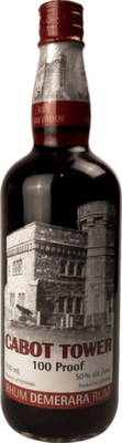 Medium cabot tower 100 proof rum orginal 400px