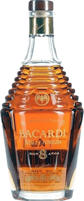 Medium bacardi millennium 8 year rum