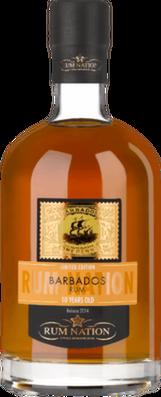 Rum nation barbados 10 year 2014 rum orginal 400px