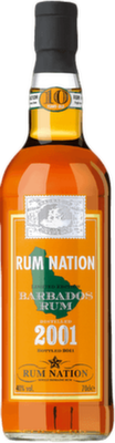 Rum nation barbados 10 year 2001 rum 400px