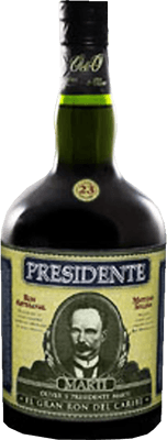 Medium presidente 23 year rum