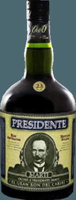Medium presidente 23 year rum