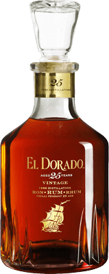 Medium el dorado 25 year 1986 vintage rum