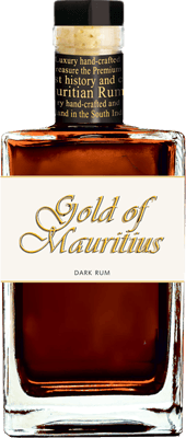 Medium gold of mauritius dark rum