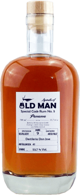 Medium old  man special cask rum no 6 9 year panama rum