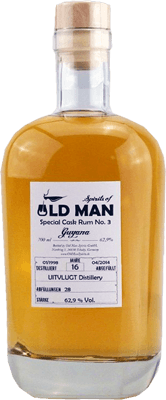 Old man special cask rum no 3 guyana 16 year cask strength rum