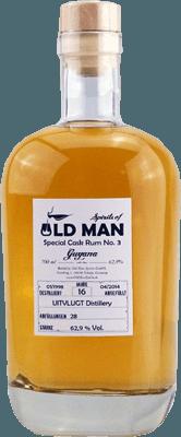Medium old man special cask rum no 3 guyana 16 year cask strength rum