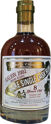 Alambic classique collection galion 2002 8 year rum 400