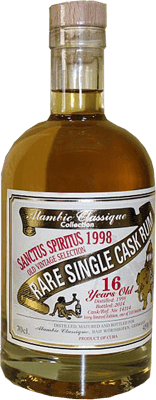 Alambic classique collection sanctus spiritus 1998 16 year rum 400