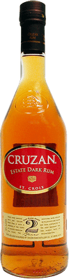 Medium cruzan estate dark rum