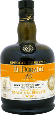 Medium el dorado 15 year special reserve madeira sweet cask rum 400px