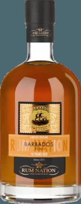 Medium rum nation barbados 2015 10 year