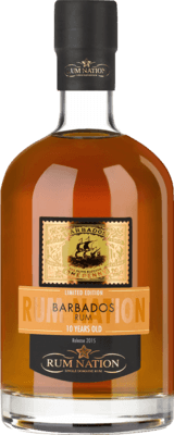 Medium rum nation barbados 2015 10 year