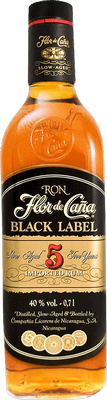 Medium flor de cana black label 5 rum
