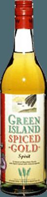 Medium green island spice gold rum