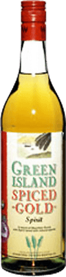 Medium green island spice gold rum