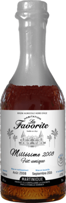 Medium la favorite millesime 2008 fut unique rhum