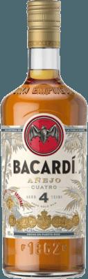 Medium bacardi anejo cuatro 4 year