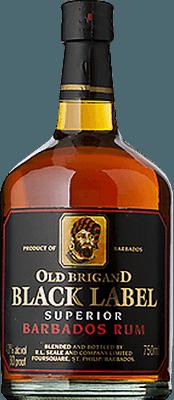 Medium old brigand black label rum