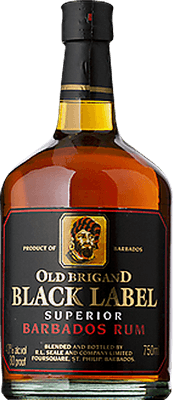 Medium old brigand black label rum