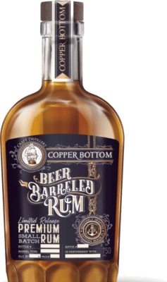 Medium copper bottom beer barreled