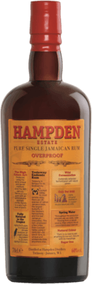 Medium hampden estate pure single jamaican overproof