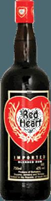 Medium red heart blended rum