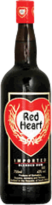 Medium red heart blended rum