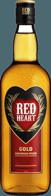 Medium red heart gold rum