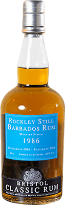 Medium rockley still 1986 barbados rum