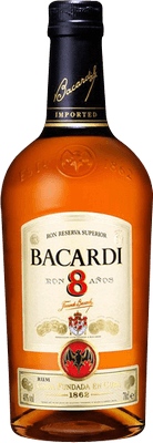 Medium bacardi 8 year rum