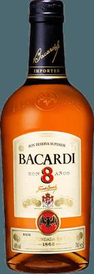 Medium bacardi 8 year rum