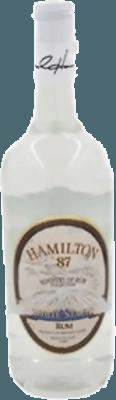 Medium hamilton white stache