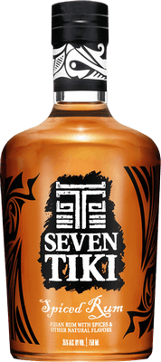 Medium seven tiki spiced rum
