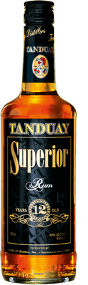 Medium tanduay superior 12 year rum
